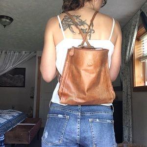 Handbags - Vintage convertible leather bag